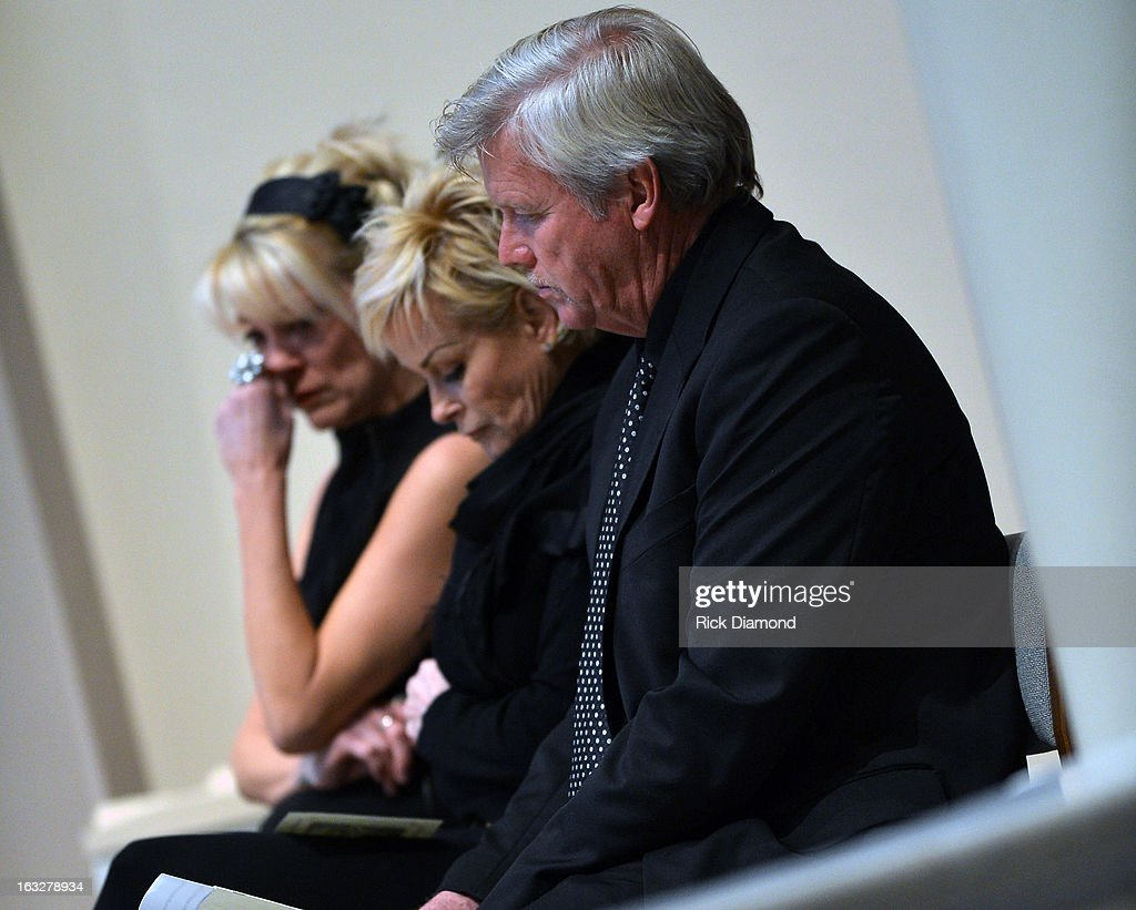 Bekka Bramlett, Lorrie Morgan and Randy White attends the memorial service for Mindy McCready at Cathedral of the Incarnation on March 6, 2013 in Nashville, Tennessee. McCready was found dead from an apparent suicide on February 17, 2013 at her home in Heber Springs, Arkansas.
