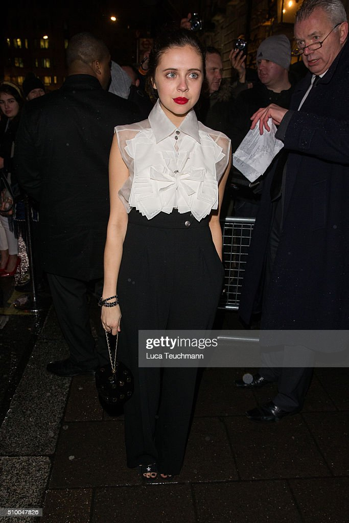 <a gi-track='captionPersonalityLinkClicked' href=/galleries/search?phrase=Bel+Powley&family=editorial&specificpeople=6536260 ng-click='$event.stopPropagation()'>Bel Powley</a> attends the Charles Finch Pre-BAFTA party at Annabel's on February 13, 2016 in London, England.