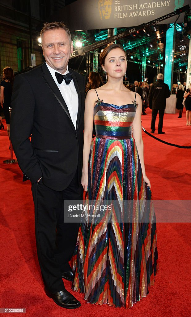 <a gi-track='captionPersonalityLinkClicked' href=/galleries/search?phrase=Bel+Powley&family=editorial&specificpeople=6536260 ng-click='$event.stopPropagation()'>Bel Powley</a> (R) attends the EE British Academy Film Awards at The Royal Opera House on February 14, 2016 in London, England.