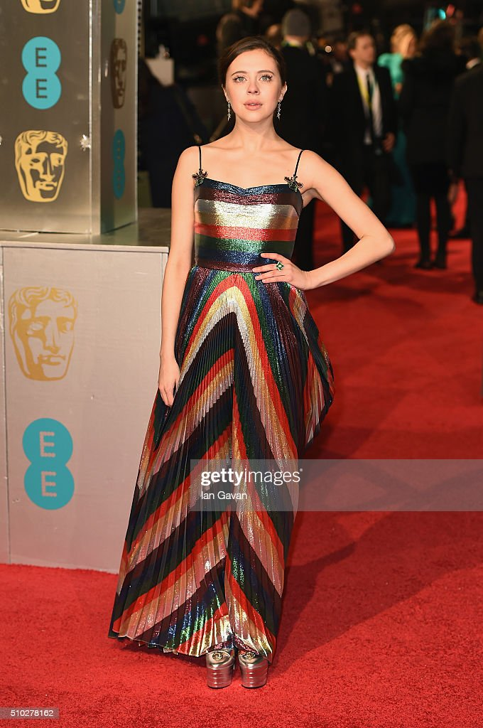 <a gi-track='captionPersonalityLinkClicked' href=/galleries/search?phrase=Bel+Powley&family=editorial&specificpeople=6536260 ng-click='$event.stopPropagation()'>Bel Powley</a> attends the EE British Academy Film Awards at the Royal Opera House on February 14, 2016 in London, England.