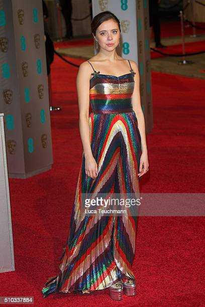 Bel Powley attends the EE British Academy Film Awards at The Royal Opera House on February 14 2016 in London England