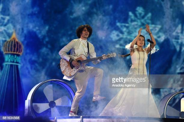 Belarus' Naviband band perform the song 'Story of my life' during the second semifinal dress rehearsal of Eurovision Song Contest 2017 at the...