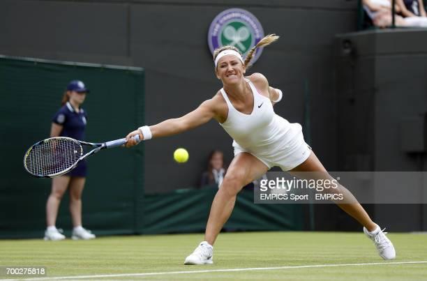 Belarus' Victoria Azarenka in action against Croatia's Mirjana LucicBaroni
