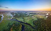 River Prypiac' (aerial photo) at National park Prypyatski