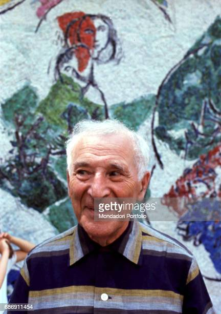 Belarusianborn French painter Marc Chagall smiling SaintPauldeVence 1967