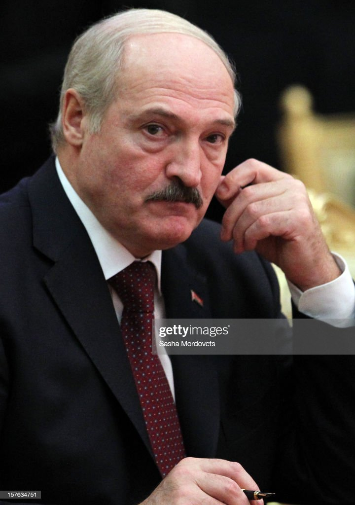 Belarus's President <a gi-track='captionPersonalityLinkClicked' href=/galleries/search?phrase=Alexander+Lukashenko&family=editorial&specificpeople=542572 ng-click='$event.stopPropagation()'>Alexander Lukashenko</a> attends a session of CIS Summit on December, 5, 2012 in Ashgabat, Turkmenistan. Leaders of former Soviet republics gathered for Commonwealth of the Independent States Summit.