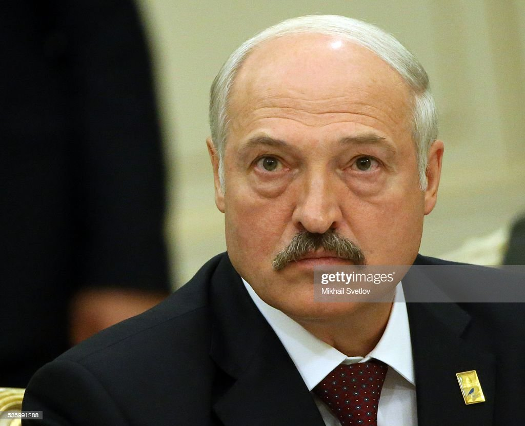ASTANA, KAZAKHSTAN - MAY, 31 (RUSSIA OUT) Belarussian President <a gi-track='captionPersonalityLinkClicked' href=/galleries/search?phrase=Alexander+Lukashenko&family=editorial&specificpeople=542572 ng-click='$event.stopPropagation()'>Alexander Lukashenko</a> attends the plenary session of the Eurasian Economic Union Summit at Akorda Palace on May 31, 2016 in Astana, Kazakhstan. Heads of the Eurasian Economic Union (EAEU) member states Russia, Belarus, Armenia, Kazakhstan and Kyrgyzstan have gathered in Astana for the summit. President Putin will also hold talks with Kazakh President Nursultan Nazarbayev.