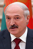 Belarussian President Alexander Lukashenko attends the Supreme State Council of Russia and Belarus on February 25 2016 in Minsk Belarus Putin is...