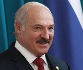 Belarussian President Alexander Lukashenko pose for a photo during the CIS Summit on October 16 2015 in Burabay Kazakhstan Leaders of 10 postSoviet...