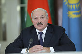 Belarussian President Alexander Lukashenko speaks during a press conference following the Supreme Eurasian Economic Council meeting at the Kremlin in...