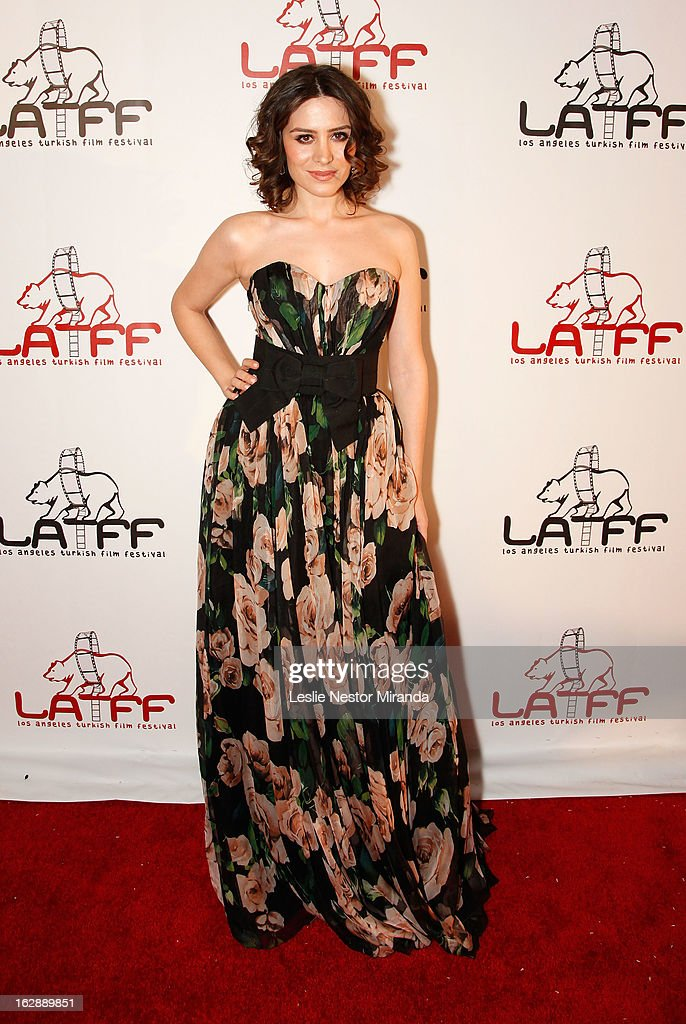 Belcim Bilgim attends The 2nd Annual Los Angeles Turkish Film Festival Opening Reception at the Egyptian Theatre on February 28, 2013 in Hollywood, California.