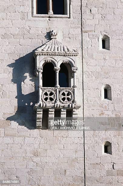 Belem Tower by Francisco de Arruda 15151521 district of Belem Lisbon Historical Province of Extremadura Lisbon Portugal 16th century Detail