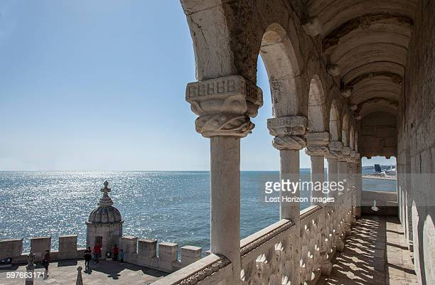 Belem Tower portico detail, Lisbon, Portugal