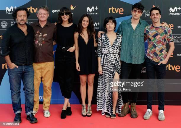 Belen Cuesta Macarena Garcia Anna Castillo Javier Calvo and Javier Ambrossi attend the presentation of San Sebastian Film Festival 2017 programme on...