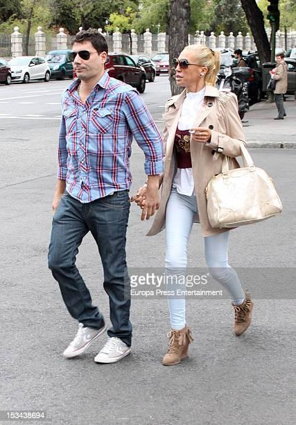 Belen Esteban and Fran Alvarez are seen on September 27 2012 in Madrid Spain