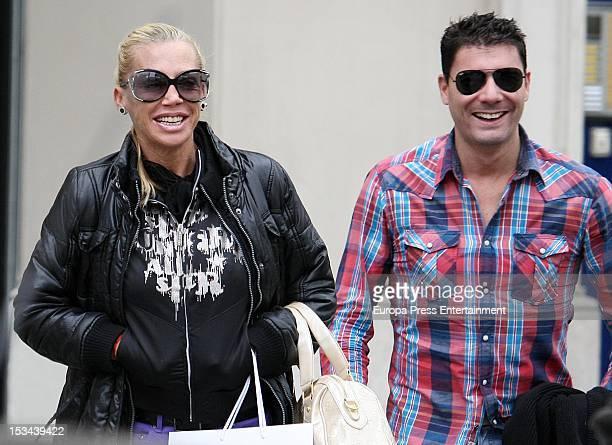 Belen Esteban and Fran Alvarez are seen on September 28 2012 in Barcelona Spain