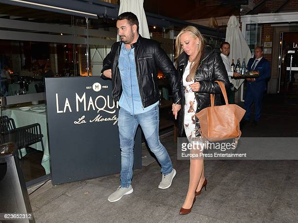 Belen Esteban and Miguel Marcos are seen on November 9 2016 in Madrid Spain