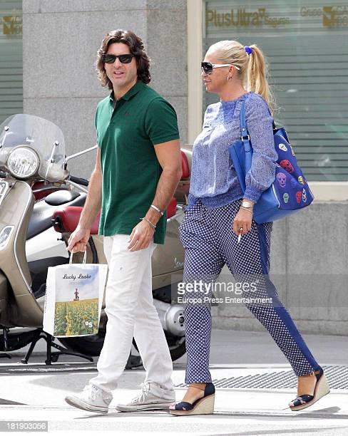 Belen Esteban and Tono Sanchis are seen on September 25 2013 in Madrid Spain