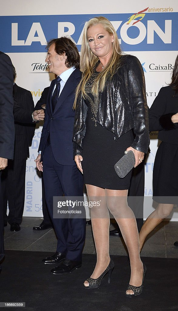 Belen Esteban attends 'La Razon' newspaper 15th anniversary party on November 4, 2013 in Madrid, Spain.