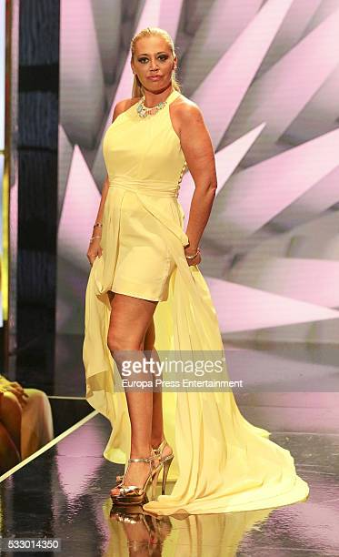 Belen Esteban attends 'Salvame Fashion Week' on May 19 2016 in Madrid Spain