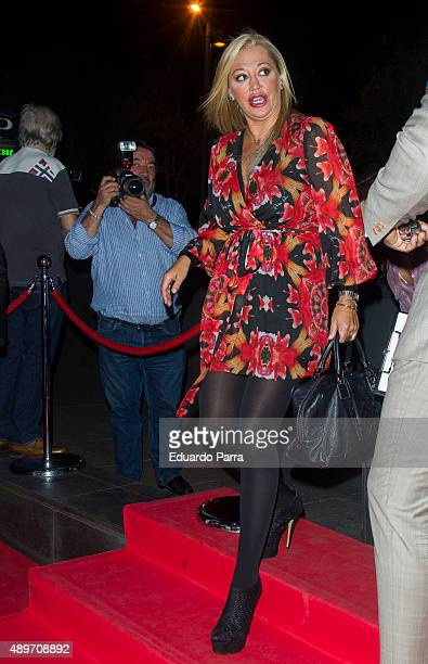 Belen Esteban attends Terelu's birthday party at Le Boutique on September 23 2015 in Madrid Spain