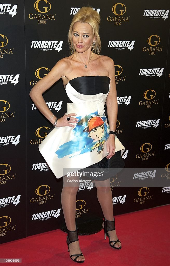 Belen Esteban attends 'Torrente 4' premiere at the Capitol cinema on March 9, 2011 in Madrid, Spain.