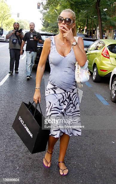 Belen Esteban is seen leaving Dolce Gabbana store on September 26 2011 in Madrid Spain