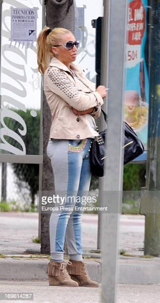 Belen Esteban is seen on May 28 2013 in Madrid Spain