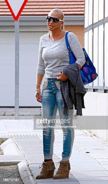 Belen Esteban is seen on October 9 2013 in Madrid Spain