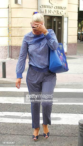 Belen Esteban is seen on September 25 2013 in Madrid Spain