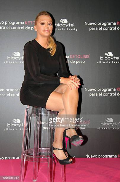 Belen Esteban is the new image for the weight control method 'Ketolysis' on April 8 2014 in Madrid Spain