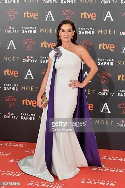Belen Lopez attends Goya Cinema Awards 2016 at Madrid Marriott Auditorium on February 6 2016 in Madrid Spain