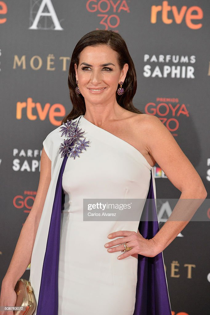 Belen Lopez attends Goya Cinema Awards 2016 at Madrid Marriott Auditorium on February 6, 2016 in Madrid, Spain.