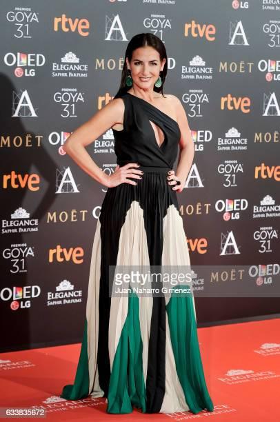 Belen Lopez attends Goya Cinema Awards 2017 at Madrid Marriott Auditorium on February 4 2017 in Madrid Spain