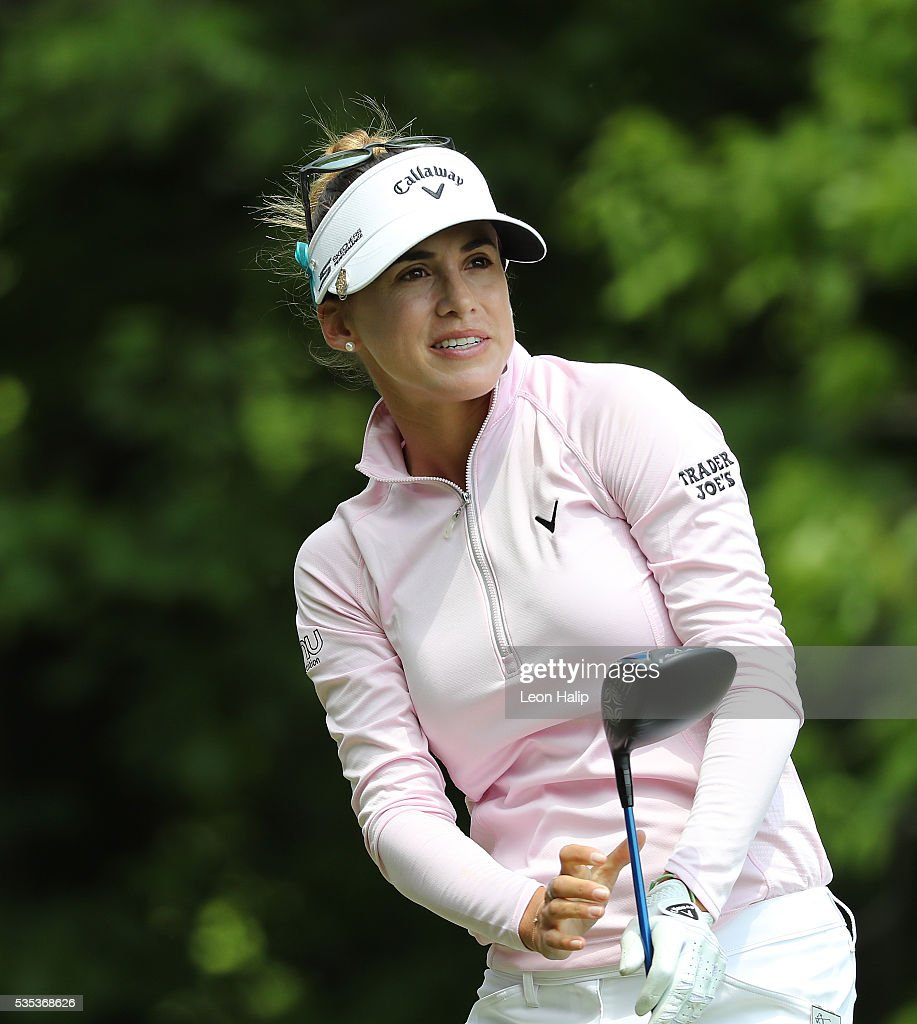 <a gi-track='captionPersonalityLinkClicked' href=/galleries/search?phrase=Belen+Mozo&family=editorial&specificpeople=994935 ng-click='$event.stopPropagation()'>Belen Mozo</a> from Spain watches her tee shot on the fifth hole during the final round of the LPGA Volvik Championship on May 29, 2016 at Travis Pointe Country Club Ann Arbor, Michigan.