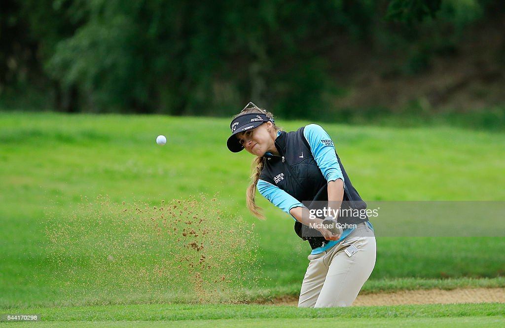 <a gi-track='captionPersonalityLinkClicked' href=/galleries/search?phrase=Belen+Mozo&family=editorial&specificpeople=994935 ng-click='$event.stopPropagation()'>Belen Mozo</a> of Spain hits her third shot on the 14th hole from a bunker during the second round of the Cambia Portland Classic held at Columbia Edgewater Country Club on July 1, 2016 in Portland, Oregon.