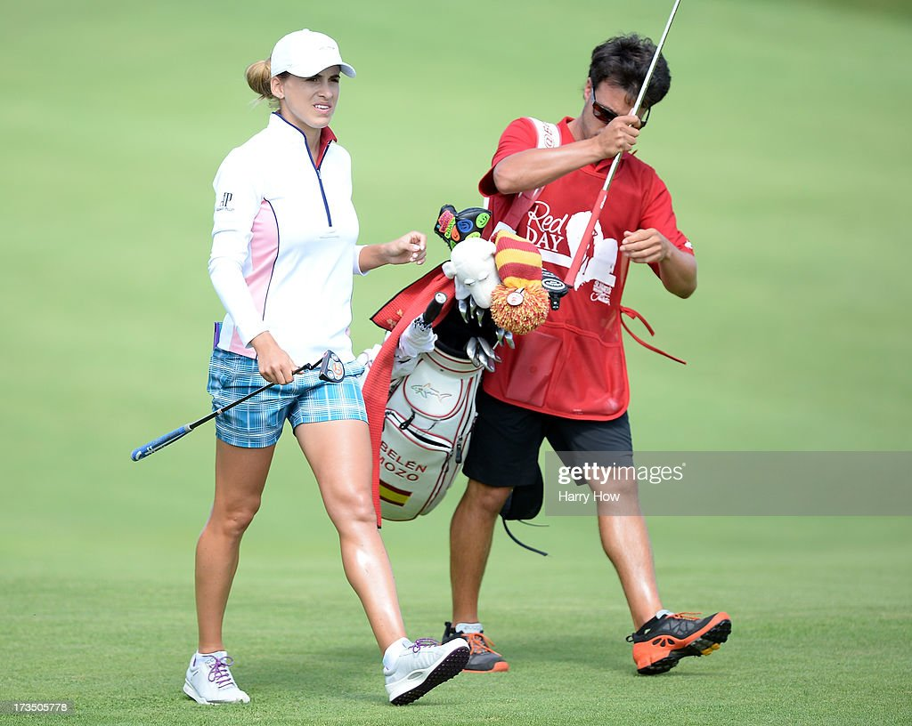 <a gi-track='captionPersonalityLinkClicked' href=/galleries/search?phrase=Belen+Mozo&family=editorial&specificpeople=994935 ng-click='$event.stopPropagation()'>Belen Mozo</a> of Spain makes her way to the fourth green during round two of the Manulife Financial LPGA Classic at the Grey Silo Golf Course on July 12, 2013 in Waterloo, Canada.