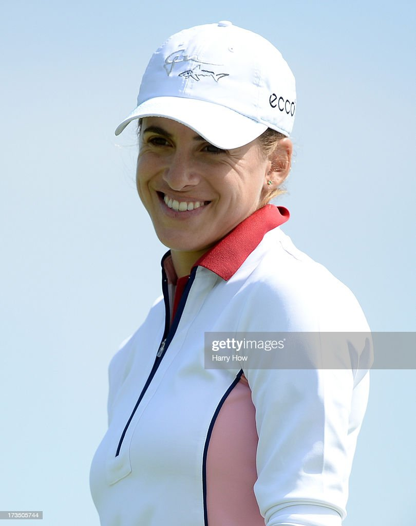 <a gi-track='captionPersonalityLinkClicked' href=/galleries/search?phrase=Belen+Mozo&family=editorial&specificpeople=994935 ng-click='$event.stopPropagation()'>Belen Mozo</a> of Spain reacts to her putt on the fourth green during round two of the Manulife Financial LPGA Classic at the Grey Silo Golf Course on July 12, 2013 in Waterloo, Canada.