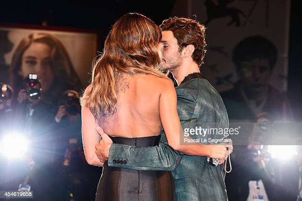 Belen Rodriguez and Stefano De Martino attend 'Pasolini' Premiere during the 71st Venice Film Festival on September 4 2014 in Venice Italy