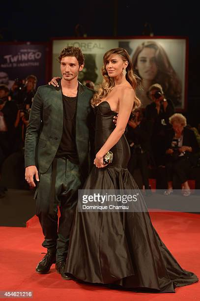 Belen Rodriguez and Stefano De Martino attend 'Pasolini' Premiere during the 71st Venice Film Festival at Sala Grande on September 4 2014 in Venice...