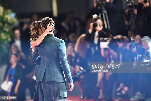 Belen Rodriguez and Stefano De Martino attend 'Pasolini' Premiere during the 71st Venice Film Festival at Sala Grande on September 4 2014 in Venice...