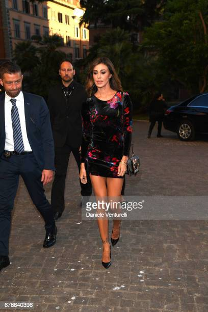 Belen Rodriguez arrives at the Guess Foundation Denim Day 2017 at Palazzo Barberini on May 4 2017 in Rome Italy