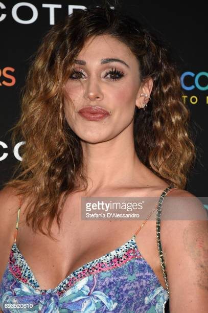 Belen Rodriguez attends a cocktail celebrating the Cotril Salons anniversary on June 7 2017 in Milan Italy