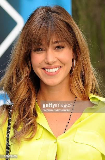Belen Rodriguez attends 'Colorado' Italian TV Show Photocall on September 14 2011 in Milan Italy