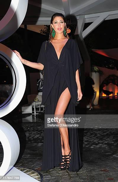 Belen Rodriguez attends Mediaset Night TV Programming Presentation held at Mediaset Studios on June 29 2011 in Milan Italy