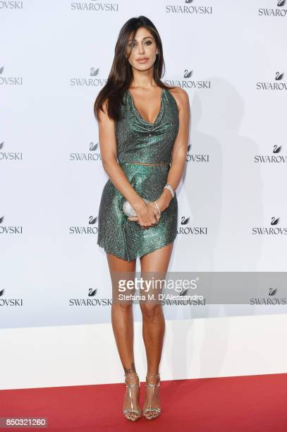 Belen Rodriguez attends Swarovski Crystal Wonderland Party on September 20 2017 in Milan Italy