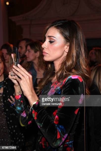 Belen Rodriguez attends the Guess Foundation Denim Day 2017 at Palazzo Barberini on May 4 2017 in Rome Italy