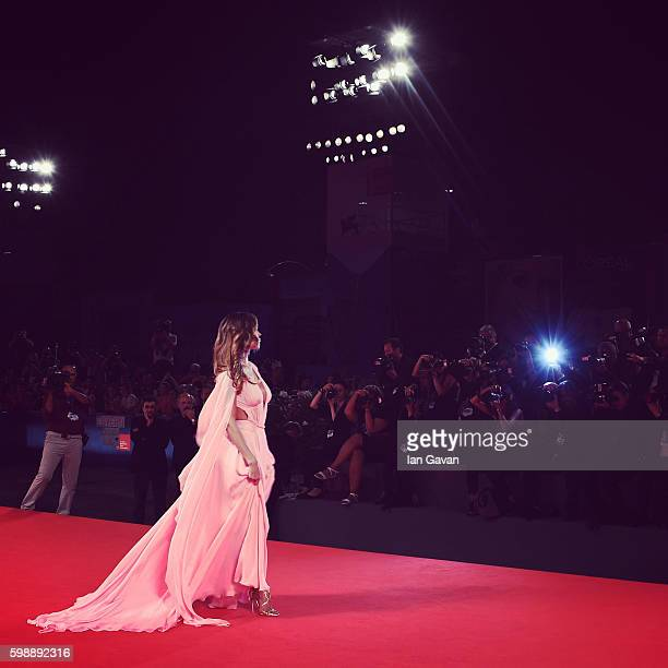 Belen Rodriguez attends the premiere of 'Arrival' during the 73rd Venice Film Festival at Sala Grande on September 1 2016 in Venice Italy