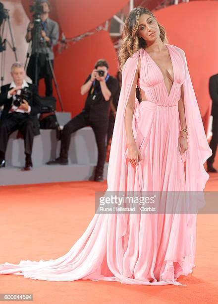 Belen Rodriguez attends the premiere of 'Arrival' during the 73rd Venice Film Festival at on September 1 2016 in Venice Italy