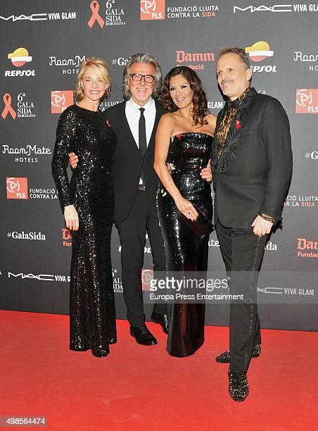 Belen Rueda Alberto Cerdan Ivonne Reyes and Miguel Bose attend Gala Against Aids on November 23 2015 in Barcelona Spain